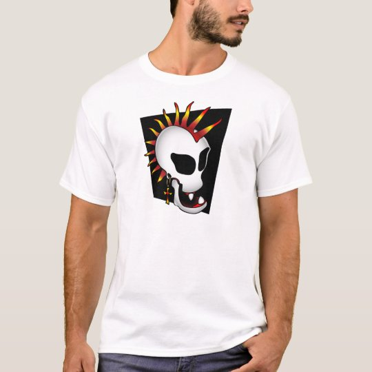 PUNK SKULL-2 PLAYERA