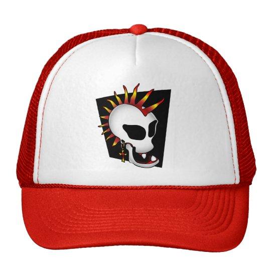 PUNK SKULL-2 TRUCKER HAT