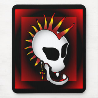 PUNK SKULL-3 MOUSE PAD
