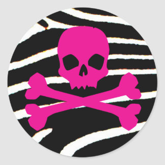 Punk Skull Classic Round Sticker