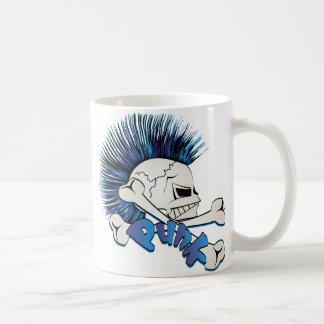 Punk Skull Classic White Coffee Mug