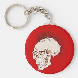Punk skull head skull keychain