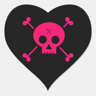 Punk Skull Heart Sticker