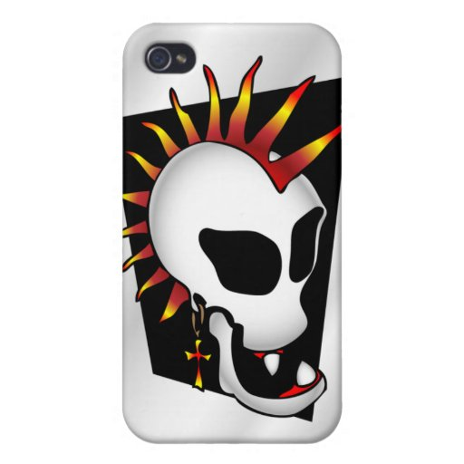 punk-skull-iphone4-case2 iPhone 4/4S carcasa