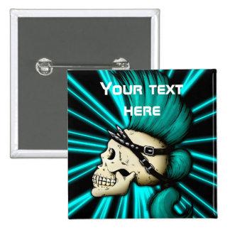 Punk Skull Pinback Button