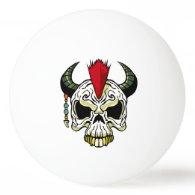Punk Skull Ping-Pong Ball
