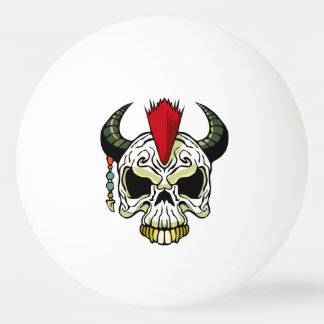 Punk Skull Ping Pong Ball