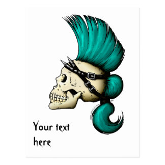 Punk Skull Post Cards