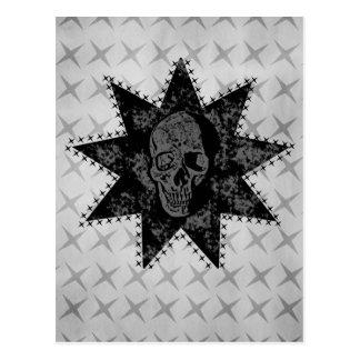 Punk Skull Postcard (Gray)