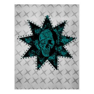 Punk Skull Postcard (Teal)