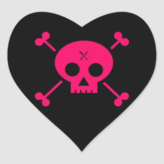 Punk Skull Heart Sticker