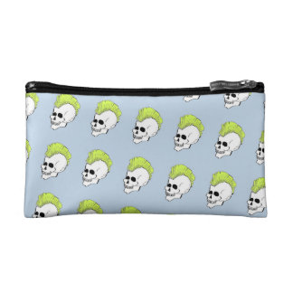 Punk Skull with Mohawk Cosmetic Bag