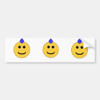 Punk Smiley Bumper Sticker