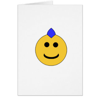 Punk Smiley Greeting Card