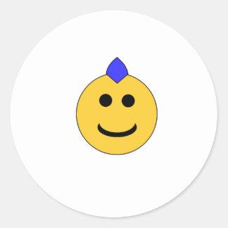 Punk Smiley Classic Round Sticker