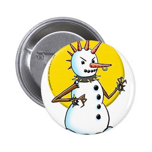 punk snowman copy 2 inch round button