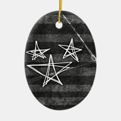 Punk Stars Ceramic Ornament