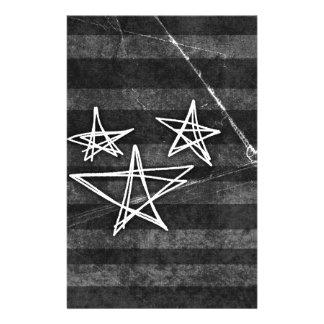 Punk Stars Personalized Stationery