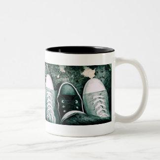 punk style Two-Tone coffee mug