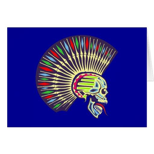 Punk Totenkopf Schädel skull Grußkarte
