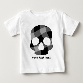Punk twisted gingham skull for baby baby T-Shirt