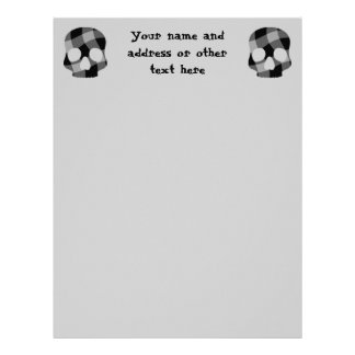Punk twisted gingham skull letterhead