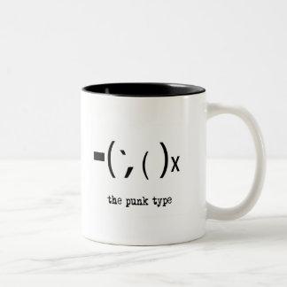 "punk ""type mug"" Two-Tone coffee mug"
