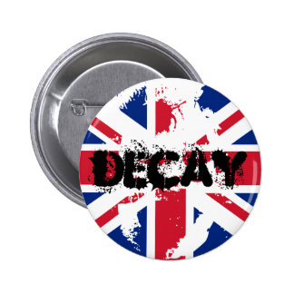 PUNK UK FLAG DECAY BUTTON