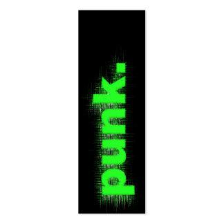 Punk verde tarjetas de visita mini
