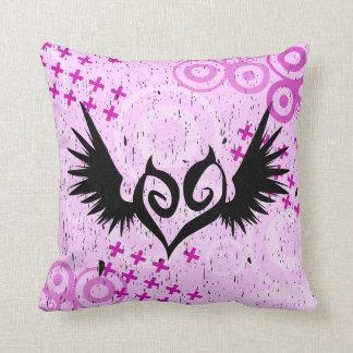 Punk Winged Heart Custom Cotton Pillows