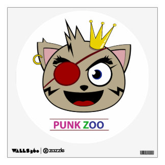 Punk Zoo: King Neko Oval Wall Decal