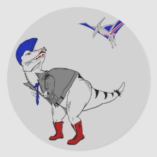 Punkasaurus Rex Classic Round Sticker