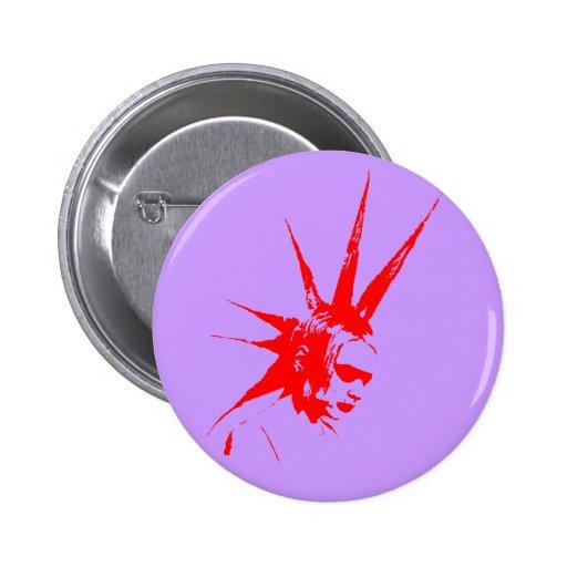 punkgirl red pinback button