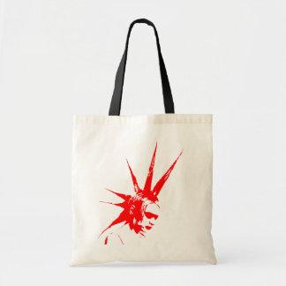 punkgirl red tote bag