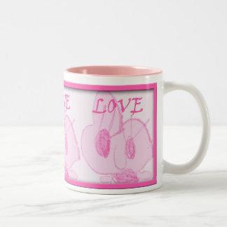 Punkie bunnie love mug