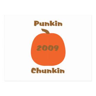 Punkin 2009 Chunkin Tarjeta Postal