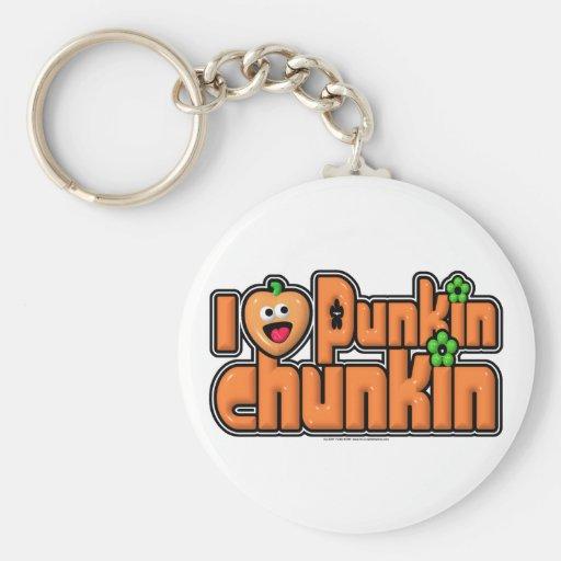 Punkin Chunkin Basic Round Button Keychain