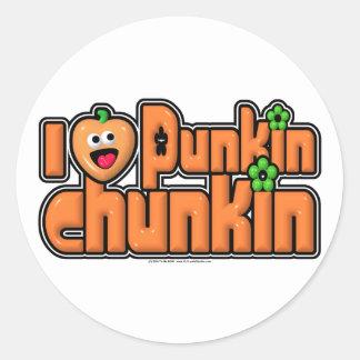Punkin Chunkin Classic Round Sticker