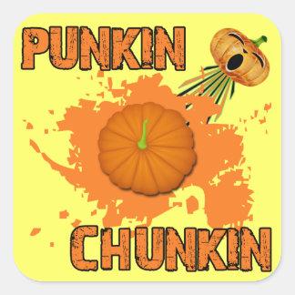 Punkin Chunkin Pegatina Cuadrada