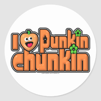 Punkin Chunkin Pegatinas Redondas