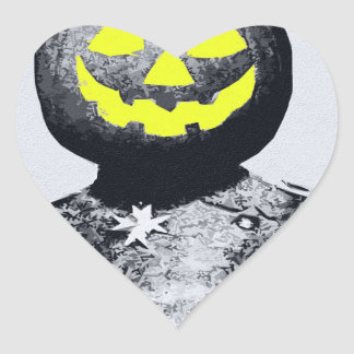 Punkin Head Soldier Heart Sticker