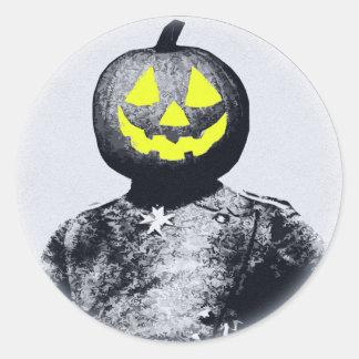 Punkin Head Soldier Classic Round Sticker