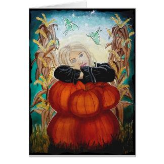 """Punkin' Pile"" - Halloween, Pumpkins, Witch, Magic Card"