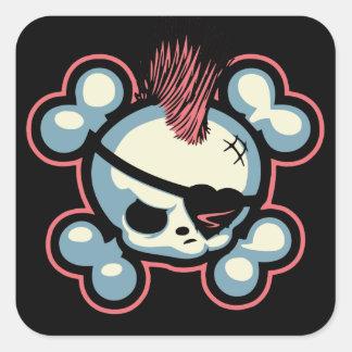 Punkin Pirate Chick Square Sticker