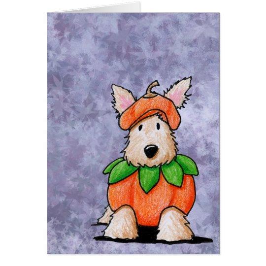 Punkin Scottie Dog Halloween Card