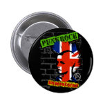 Punkrock - Union jack mohawk Anstecknadelbutton