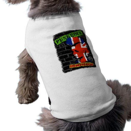 Punkrock - Union jack mohawk Hunde T Shirt