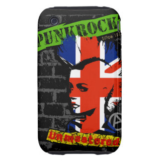 Punkrock - Union jack mohawk iPhone 3 Tough Etuis
