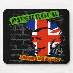 Punkrock - Union jack mohawk Mousepads