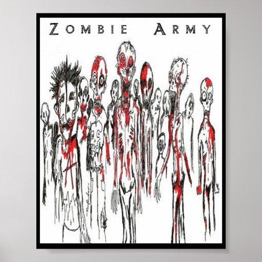 Punks del zombi/ejército del zombi impresiones